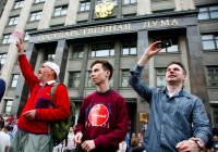 Protest in Moscow after Navalny Conviction