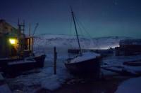 ViktorÕs fishing hut and his boat